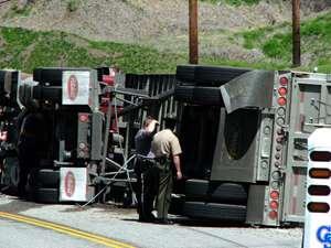 flipped truck accident web